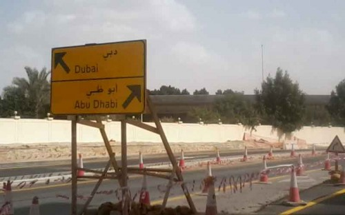 Dubai roadworks